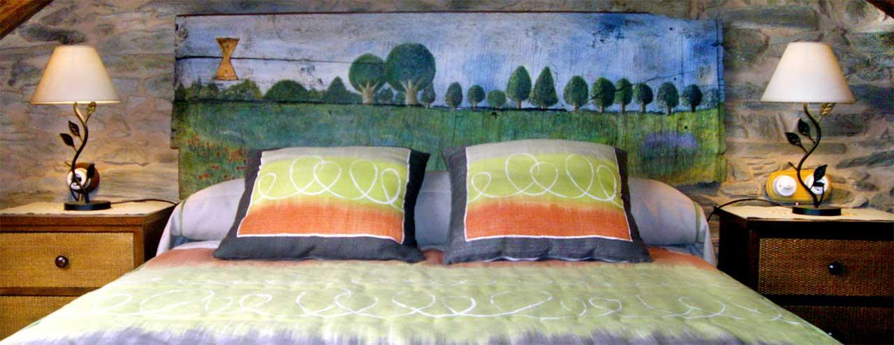 Dormitorio casa rural los cerezos
