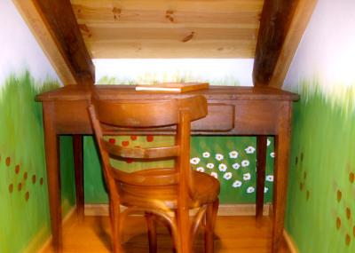 Mesa escritorio de la Casa Rural